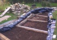 Dry stone wall construction