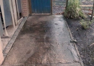 Path prior to cleaning
