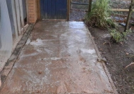 Cleaning agent applied to path