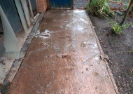 Path after action of cleaning agent