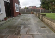 Driveway drying after treatment has been applied