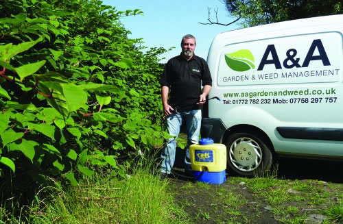 Alan McMonagle, manager of A and A Garden & Weed Management