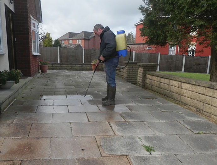 Driveway and path cleaning and weed removal
